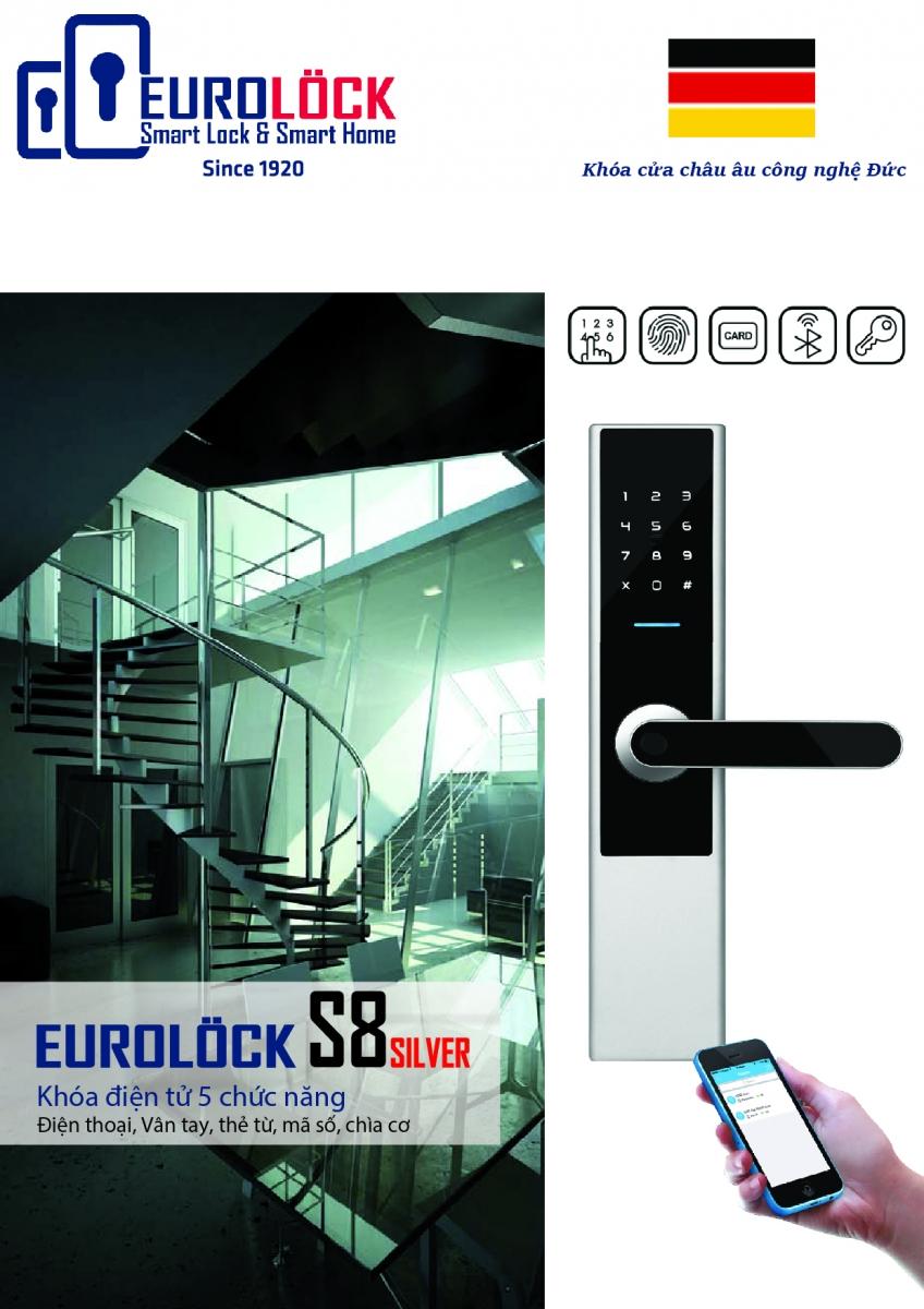 Khóa vân tay EUROLOCK S8 SILVER