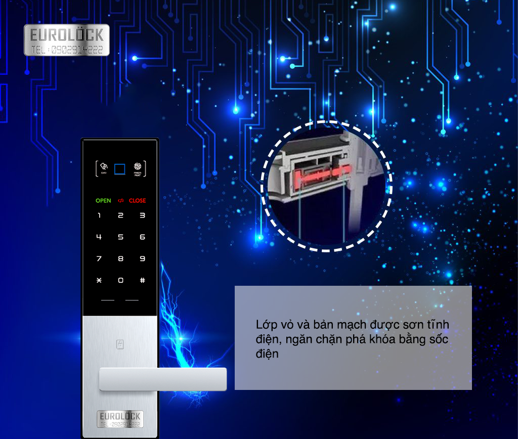 Khóa cửa thông minh Eurolock tính năng an toàn bảo vệ tuyệt đối