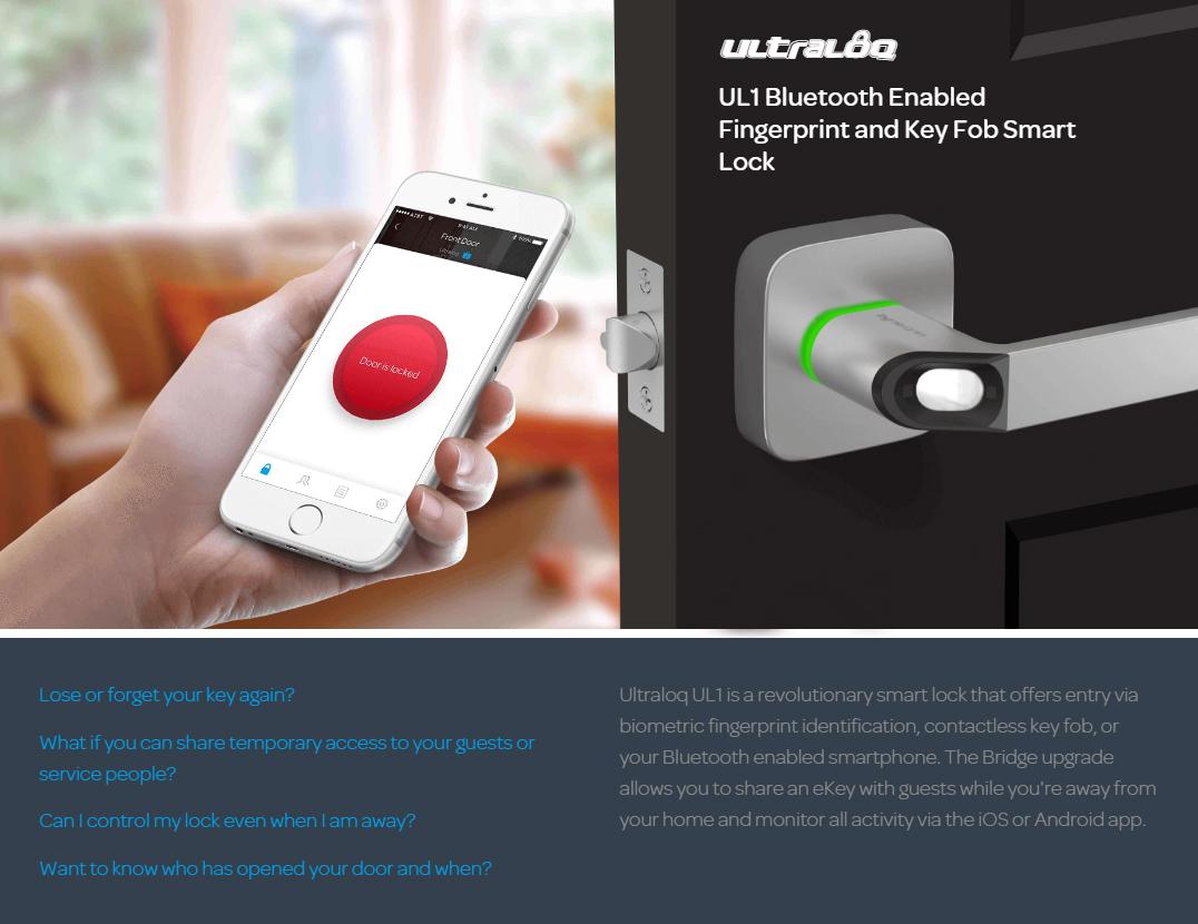 Khóa điện tử thông minh ULTRALOQ UL1