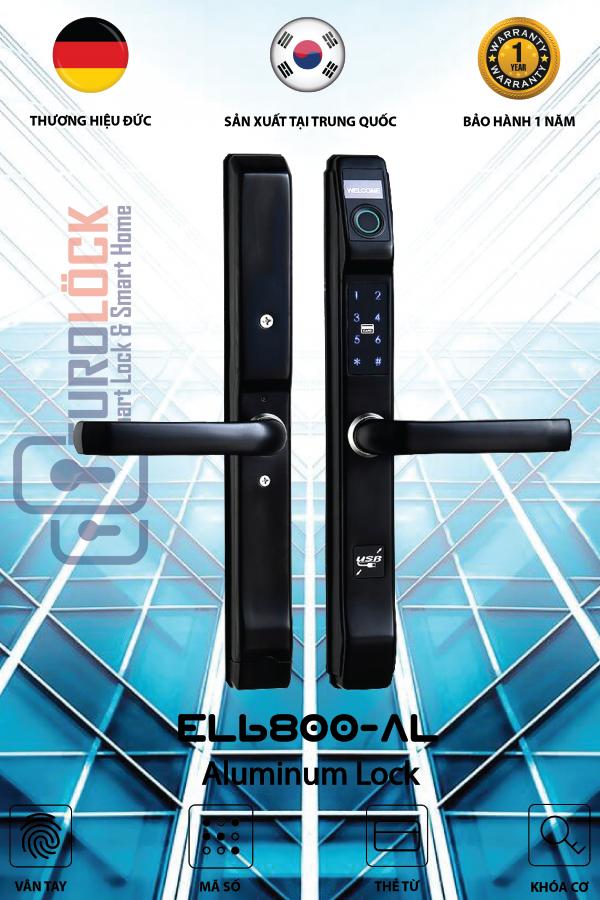 Khóa vân tay cửa nhôm EUROLOCK EL6800-AL