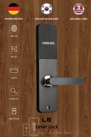 Khóa vân tay cửa gỗ EUROLOCK L8